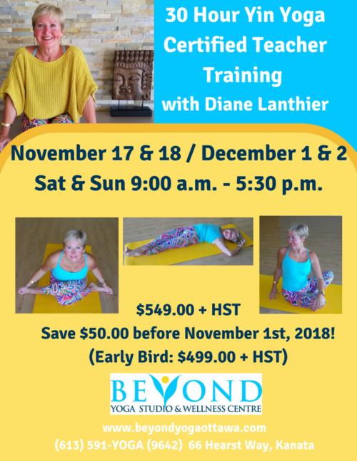30 hour yin yoga teacher training   beyond yoga ottawa